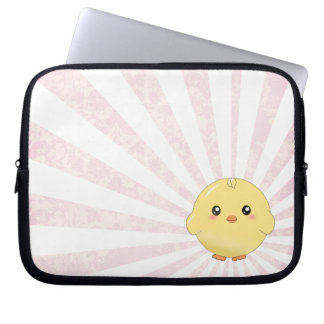 Cute yellow chick computer sleeves