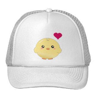 Cute yellow chick trucker hat