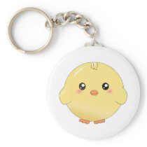 Cute yellow chick keychain
