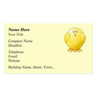 Cute Yellow Chick. Little Bird. Business Card Template