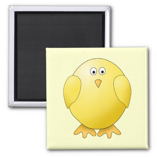 Cute Yellow Chick. Little Bird. Magnet