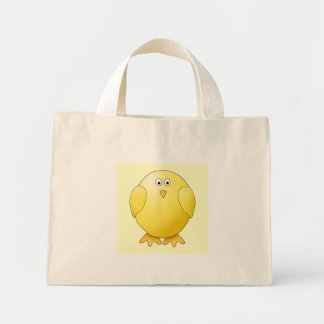 Cute Yellow Chick. Little Bird. Mini Tote Bag