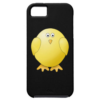 Cute Yellow Chick. Little Bird on Black. iPhone 5 Cover