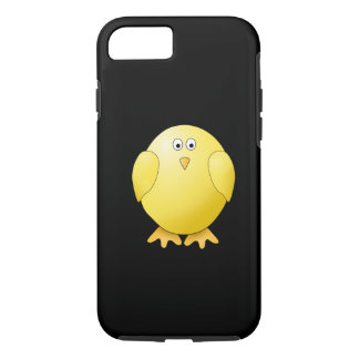 Cute Yellow Chick. Little Bird on Black. iPhone 8/7 Case