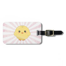 Cute yellow chick luggage tag