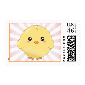 Cute yellow chick postage