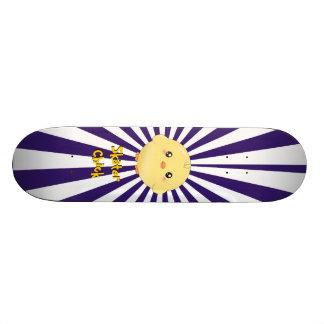 Cute yellow chick skateboard