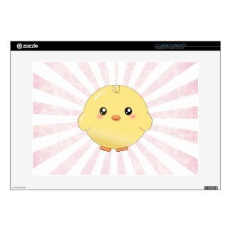 Cute yellow chick decals for laptops