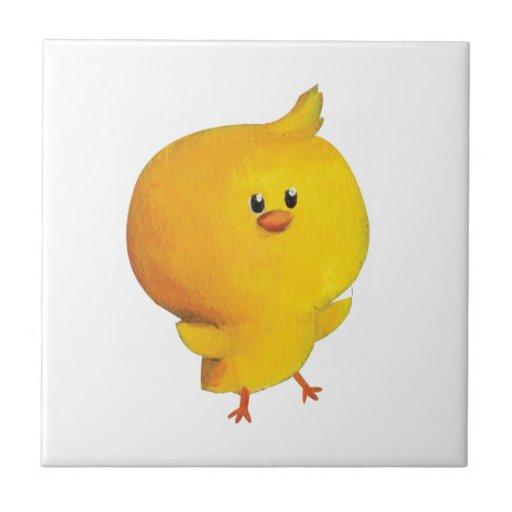 Cute Yellow Chicken Ceramic Tiles