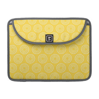 Cute Yellow Circles Pattern Sleeve For MacBooks