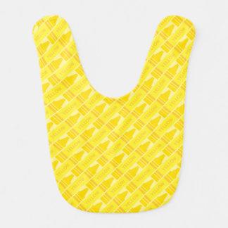 Cute Yellow Crayon Artsy Pattern Bib
