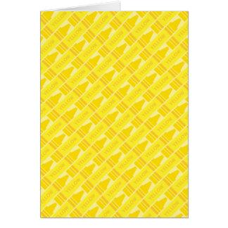 Cute Yellow Crayon Artsy Pattern Card
