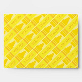 Cute Yellow Crayon Artsy Pattern Envelope