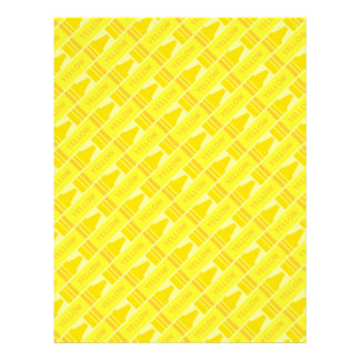 Cute Yellow Crayon Artsy Pattern Flyer