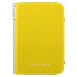 Cute Yellow Custom Name Cases For Kindle