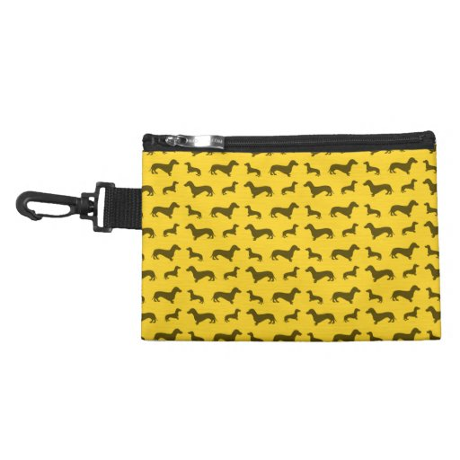 Cute yellow dachshund pattern accessories bags