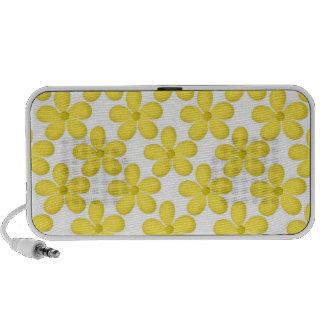 Cute Yellow Daisey Design Speaker