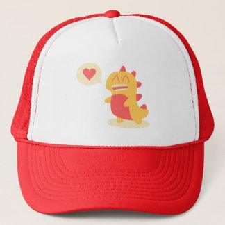 Cute Yellow Dino Dinosaur Talks About Love Trucker Hat