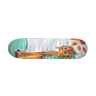 Cute Yellow Dinosaur Sketch Skateboard Mini