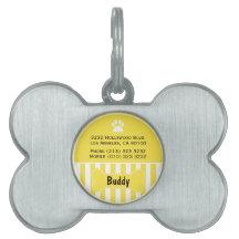 Cute Yellow Dog ID Tag Pet Tag