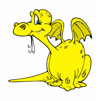 Cute Yellow Dragon Baby Statuette