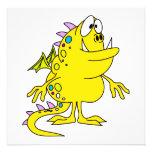cute yellow dragon monster creature custom announcements