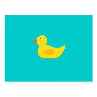 Cute yellow duck postcard
