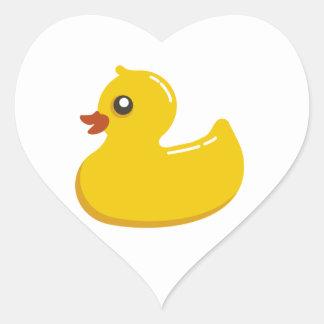 Cute Yellow Duckling Heart Sticker