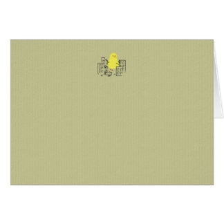 Cute Yellow Easter Chick Destroys City! Greeting Cards