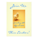 Cute yellow Easter Chick Invitations