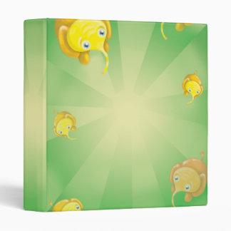 cute yellow elephant parade binder