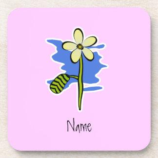Cute Yellow Flower Coaster