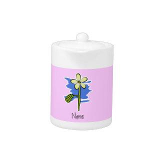Cute Yellow Flower Teapot