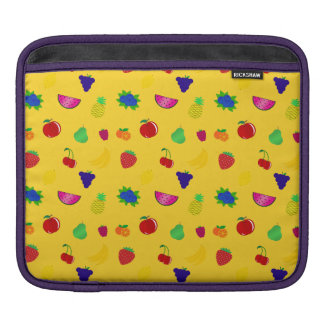 Cute yellow fruits pattern iPad sleeves