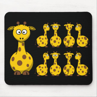 Cute Yellow Giraffe Pattern Mousepad