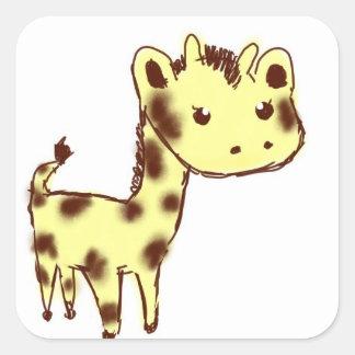 Cute Yellow Giraffe Stickers