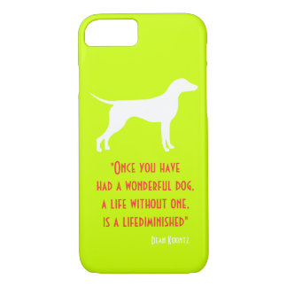 Cute yellow green Dean Koontz quote dog iPhone 8/7 Case
