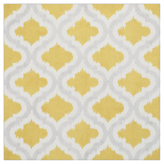 yellow and grey fabric zazzle. Black Bedroom Furniture Sets. Home Design Ideas