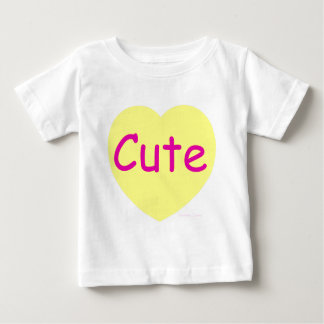 Cute Yellow Heart Baby T-Shirt