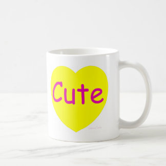 Cute Yellow Heart Coffee Mug
