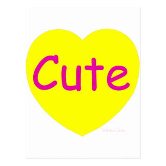 Cute Yellow Heart Postcard