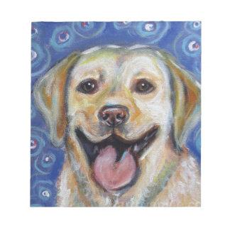 Cute Yellow Labrador Happy Note Pad