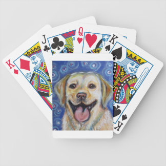 Cute Yellow Labrador Happy Bicycle Playing Cards