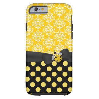 Cute Yellow Ladybug and Patterns iPhone 6 case