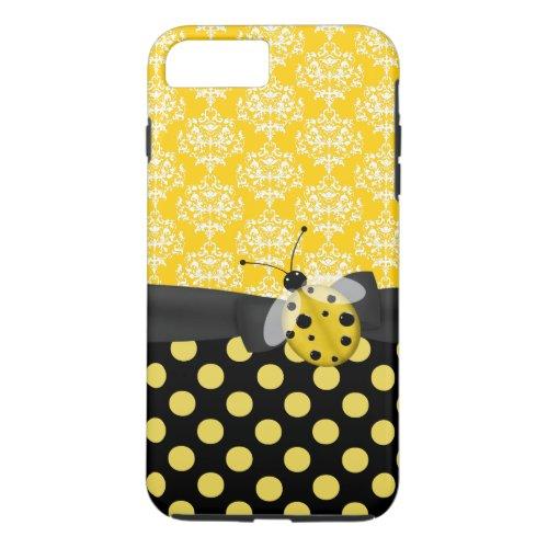 Cute Yellow Ladybug iPhone 7 Plus case