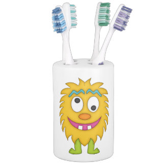 Cute Yellow Monster Bathroom Set. Monsters Bath Sets   Zazzle
