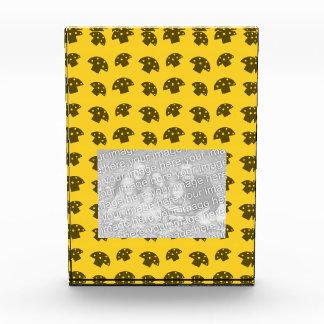 Cute yellow mushroom pattern awards