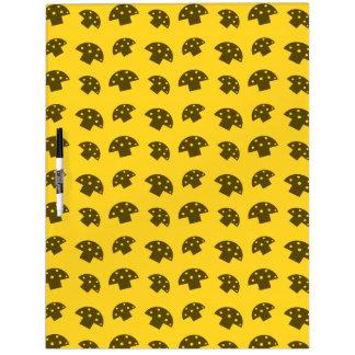 Cute yellow mushroom pattern dry erase boards