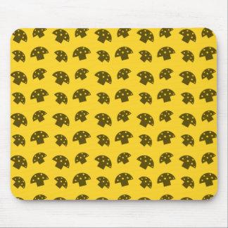 Cute yellow mushroom pattern mouse pad