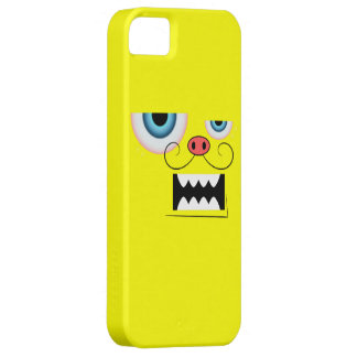 Cute Yellow Mustache Monster Emoticon iPhone SE/5/5s Case